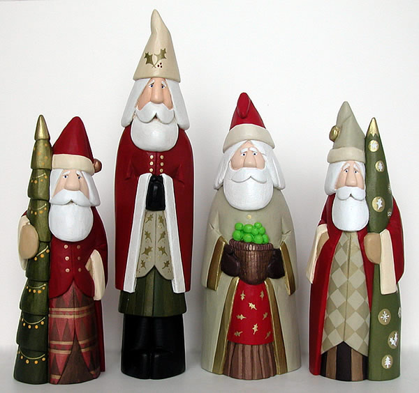 Carved Santas Santa Wood Carving Carved Santa Hand Carved Santas Santas And Folk Art From Whittled Santas